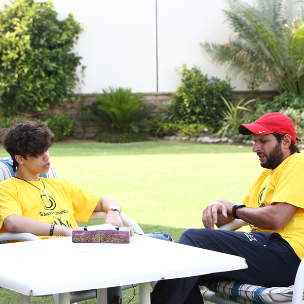 Haris J and Shahid Afridi